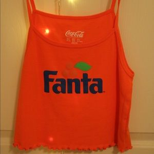 orange Fanta crop top!